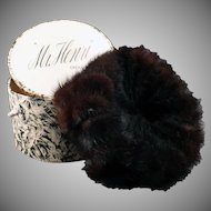Vintage Mink Pillbox Hat - Marshall Field Mr. Henri Creation – Original Box