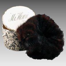 Vintage Mink Pillbox Hat - Marshall Field Mr. Henri Creation – Original Box