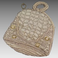 Vintage Seed Bead Evening Bag - Small 1920's - 1930's Purse