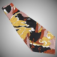 Men's Vintage Necktie - 1960's - 1970's Wide with Bold Colors