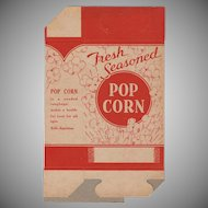 "Unused ""Fresh Seasoned"" Vintage Popcorn Box"