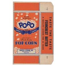 Unused Vintage Pop-O Popcorn Box - Nice Graphics