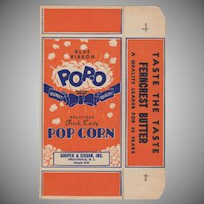 Unused Vintage Pop-O Popcorn Box - Nice Graphics