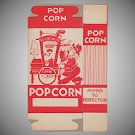 Unused Vintage Popcorn Box - Popcorn Vendor Graphics