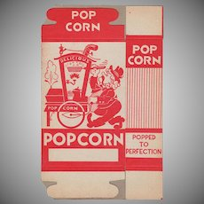 Unused Vintage Popcorn Box - Popcorn Vendor Graphics