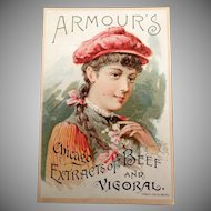 Vintage Advertising Trade Card - 1891 Armour's Vigoral