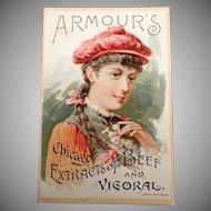 Vintage Advertising Trade Card - 1891 Armour's Vigoral