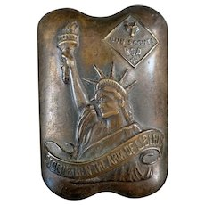 Vintage BSA Neckerchief Slide - Cub Scout Accessory with Arm of Liberty