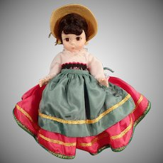Vintage Madame Alexander Doll - #593 Italy Foreign Friends International