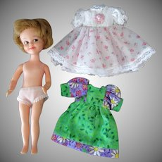 Vintage Penny Brite Doll with Two Pretty Dresses – 1960's