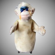 Vintage Monkey Hand Puppet - Steiff Mohair Mungo - Late 1950's - 1960's