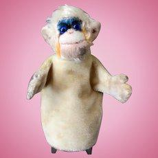 Vintage Monkey Hand Puppet - Steiff Mohair Mungo - Late 1950's - 1960's