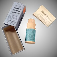 Vintage Medicine Box – Stuart's Laxative - Original Wood Container and Box
