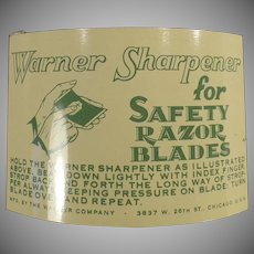 Vintage Warner 1-2-3 Razor Blade Sharpener for Safety Razor Blades