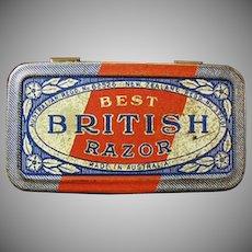 Empty Vintage Razor Tin - Best British Razor Tin - Australia