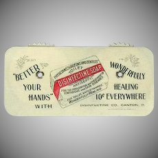 Vintage Celluloid Advertising - Game Counter -  Disinfectine Soap Advertising