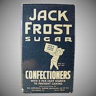 Vintage Jack Frost Confectioners Sugar Box Sample