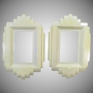 Vintage Art Deco Switch Plate Covers – Plastic Protect-O-Shield -Pair
