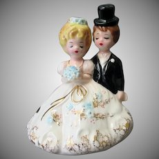 Vintage Josef Originals Bride & Groom – Party Cake Topper Series