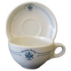 Vintage Restaurant China – #7 Uintah Masonic Lodge Cup & Saucer