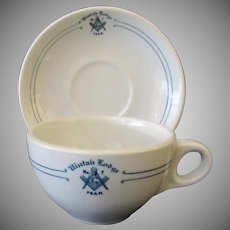 Vintage Restaurant China – #7 Uintah Masonic Lodge Cup & Saucer