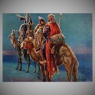 Vintage Celluloid Blotter - Christmas Greeting with the Three Wise Men