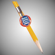 Vintage Celluloid Pencil Clip - Royal Crystal Salt Advertising