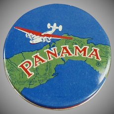 Vintage Typewriter Ribbon Tin - Colorful Round Panama Tin