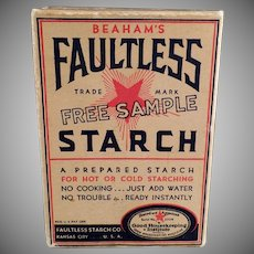 Vintage Faultless Starch Sample Box - Unopened Condition