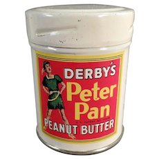 Vintage Derby's Peter Pan Peanut Butter Sample Tin - Fun Graphics
