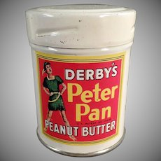 Vintage Derby's Peter Pan Peanut Butter Sample Tin - Fun Graphics