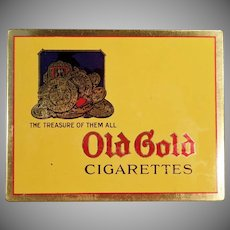 Vintage Old Gold Cigarettes Tin - Very Nice Condition - Flat Tin