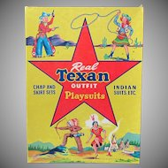 Vintage Real Texan Outfit Playsuits Clothes Box with Cowboys & Indians