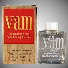 Vintage VAM - Little Sample Bottle with Original Box and Literature
