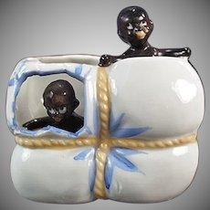 Vintage Black Memorabilia Porcelain Whimsey - Black Babies in Cotton Bale