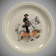 Vintage Hopalong Cassidy in Black Outfit - Dinner Plate