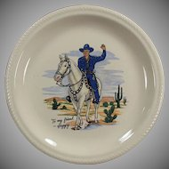 Vintage Hopalong Cassidy in Blue Outfit - Dinner Plate