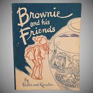Vintage 2 Story Booklet - 1940's Brownie and his Friends with Great Illustrations