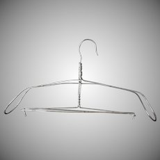Vintage Heavy Wire Metal Clothes Hanger – Possibly for a Man's Suit