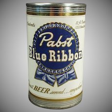 Vintage Advertising Bank - Pabst Blue Ribbon Beer Tin Promotional Bank