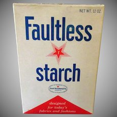 Vintage Faultless Starch Box -  Unopened 1960's Laundry Item