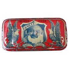 Vintage Yankee Razor Blade Tin – Great Graphics - Small Advertising Tin