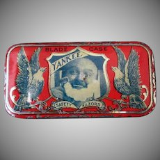Vintage Yankee Razor Blade Tin – Great Graphics - Small Advertising Tin