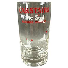 Vintage Carstairs White Seal Advertising Highball Glass - 2 Available