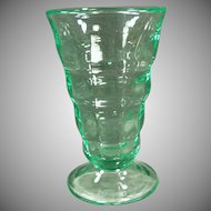 Vintage Soda Fountain Malt Glass - Paden City Green