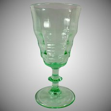 Vintage Soda Fountain Glass - Stemmed Sundae Dish - Green