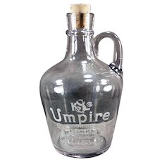 Vintage Back Bar Whiskey Bottle - Kelly Steinmetz Umpire Whiskey Jug - Minneapolis