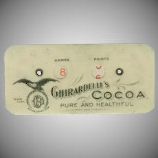 Vintage Ghirardelli's Cocoa Advertising Celluloid Game Counter