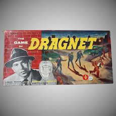 Vintage Transogram Dragnet Board Game - Complete Cops & Robbers Game 1955