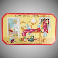 Vintage Sewing Needle Packet - Happy Little Tailors with Elves Needle Book